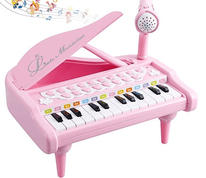 Kids keyboard with microphone
