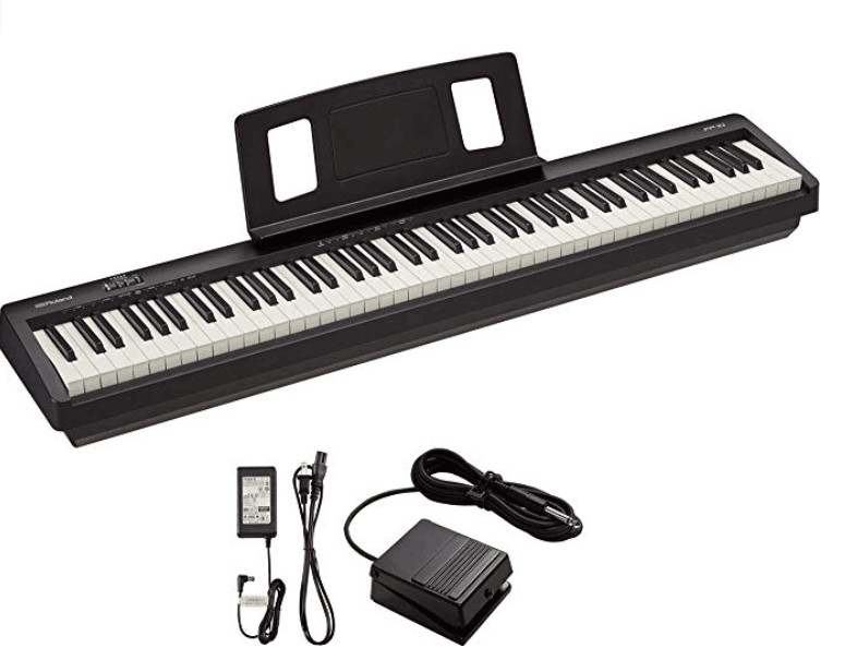 Portable digital piano with weighted keys