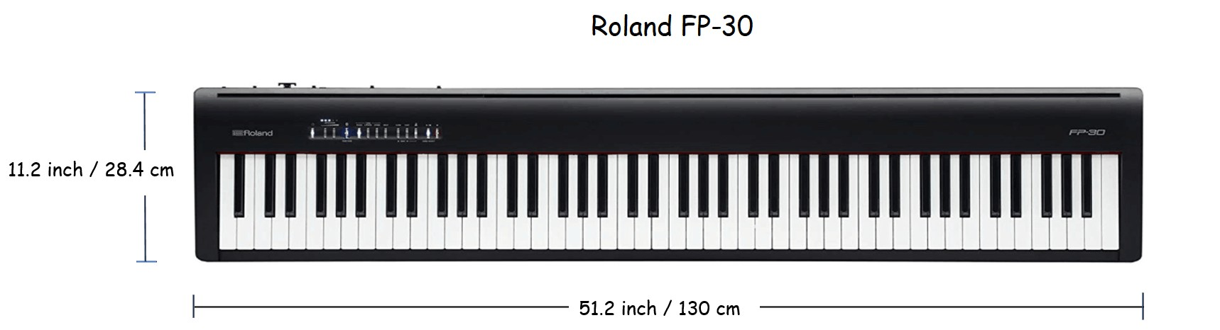 Roland fp 30 dimensions