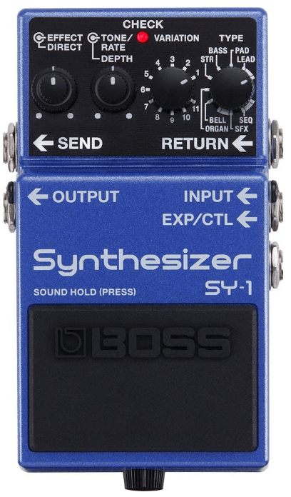 bass synthesizer guitar pedal