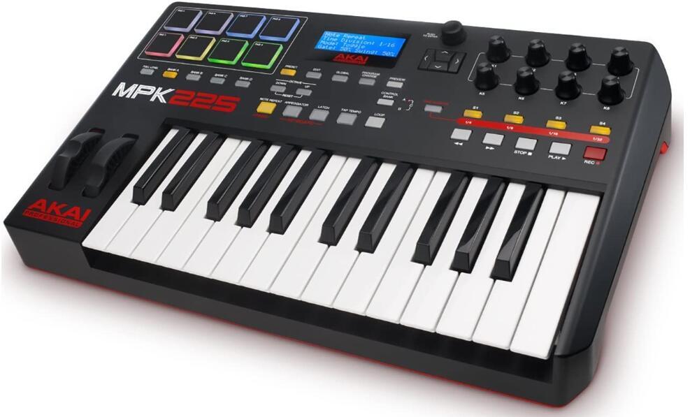 akai weighted keys 25 midi keyboard