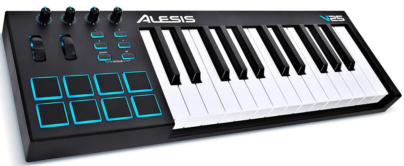 alesis 25 key midi keyboard usb