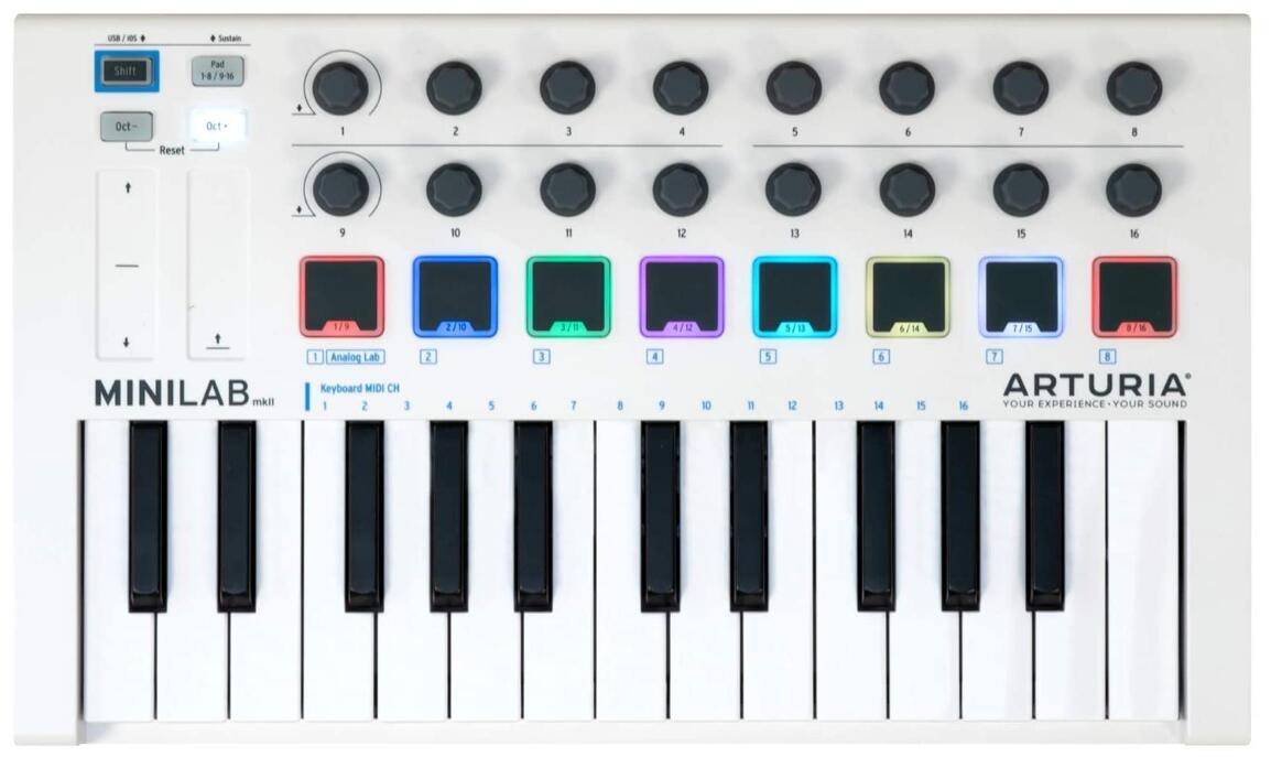 arturia cheap 25 key midi controller