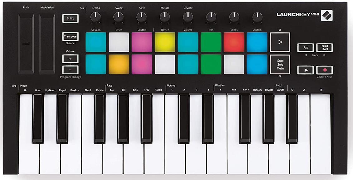 novation 25 key midi keyboard
