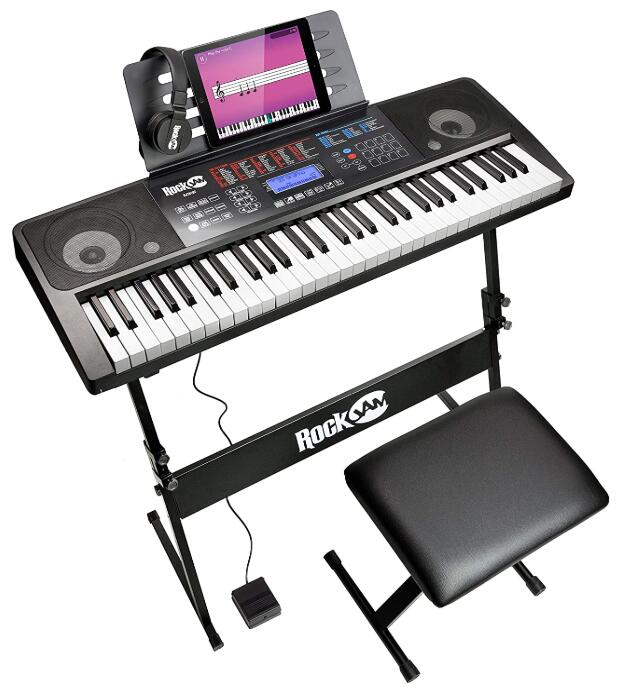 rockjam 61 key electronic keyboard