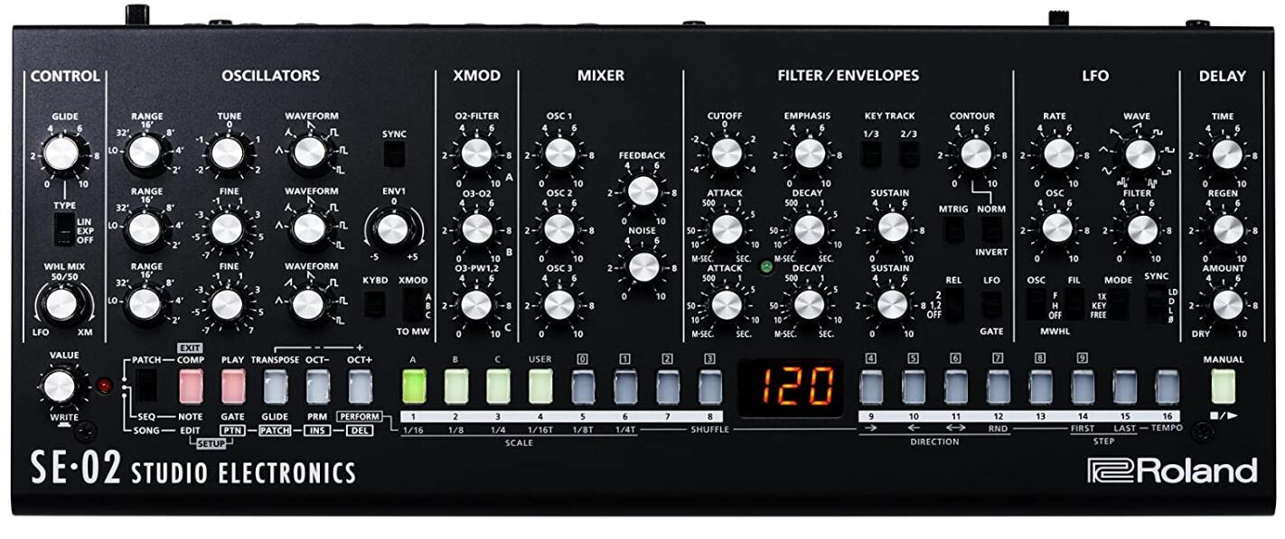 roland se 02 analog synth under 500