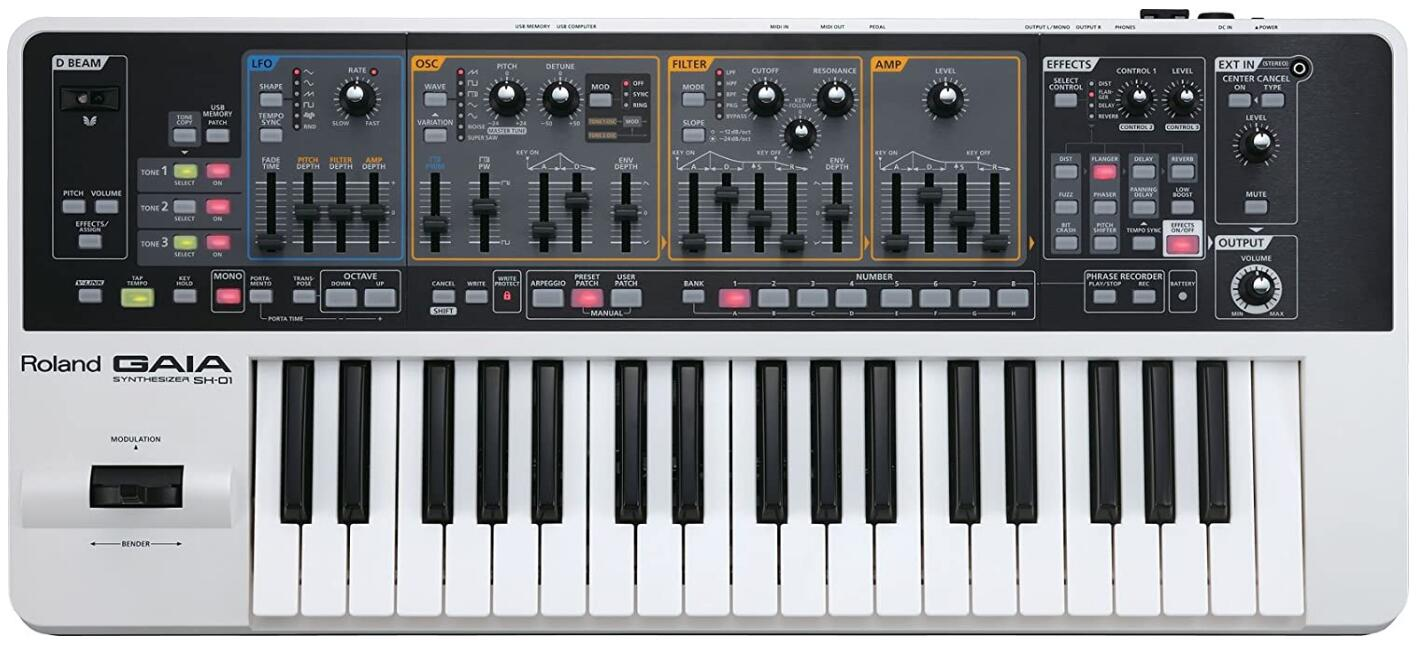 roland synthesizer for techno