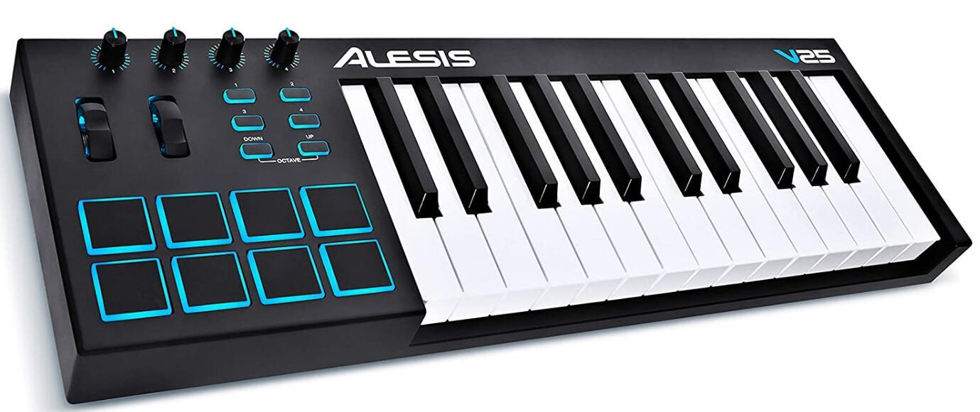 alesis 25 key portable midi keyboard