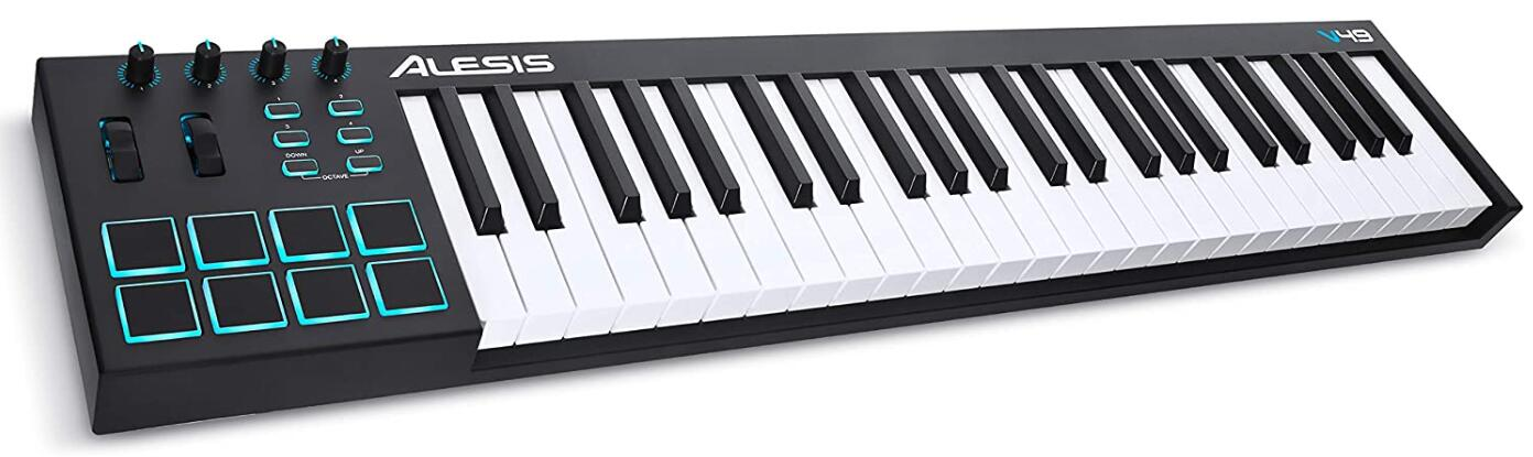 alesis 49 key midi keyboard for beginners