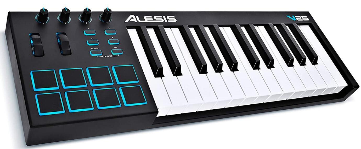 alesis v 25 midi keyboard controller
