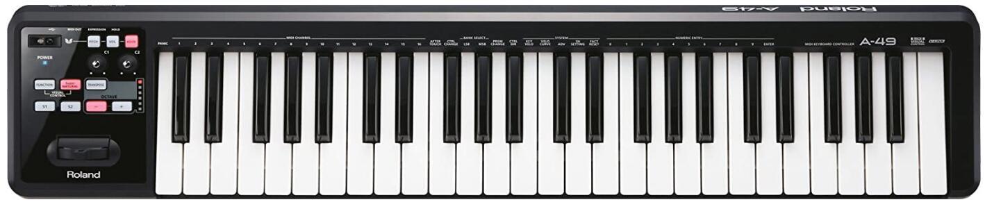 roland 49 key midi keyboard