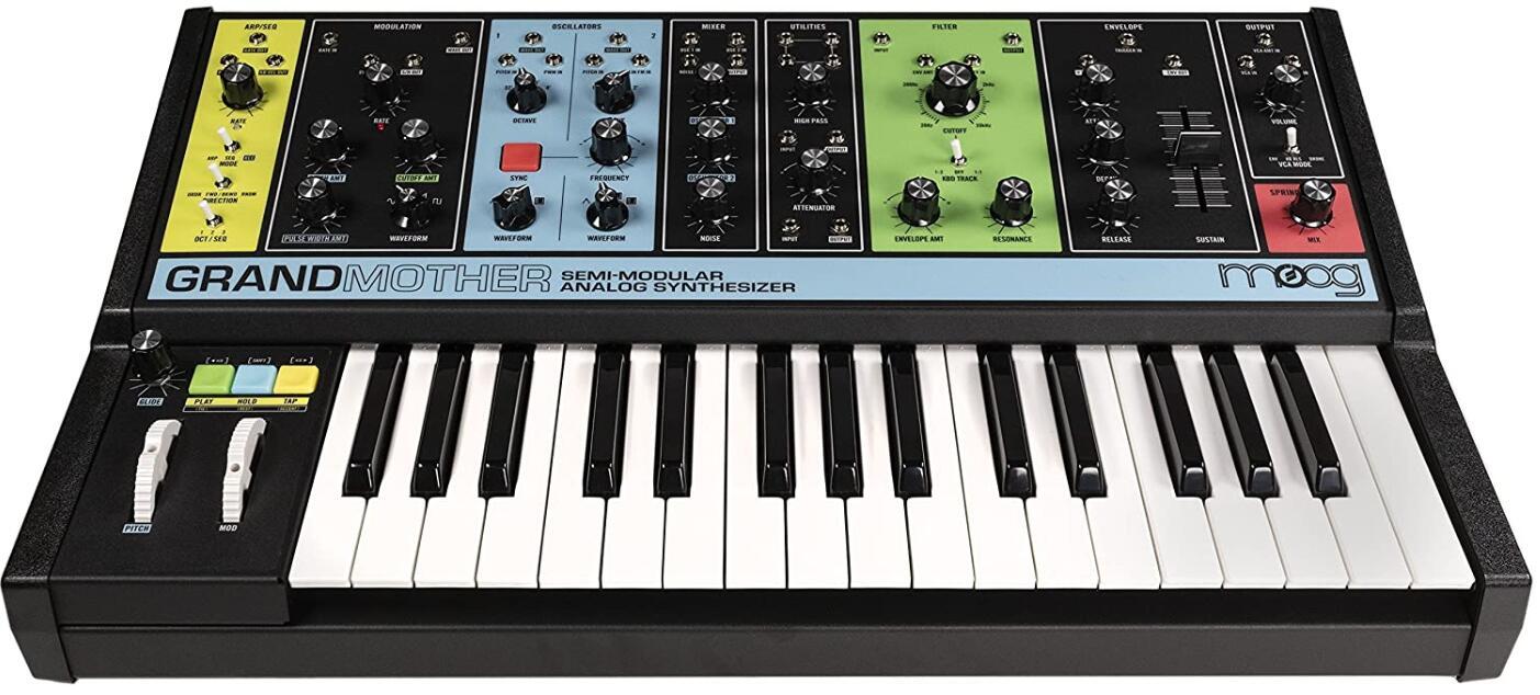 moog semi modular synth keyboard