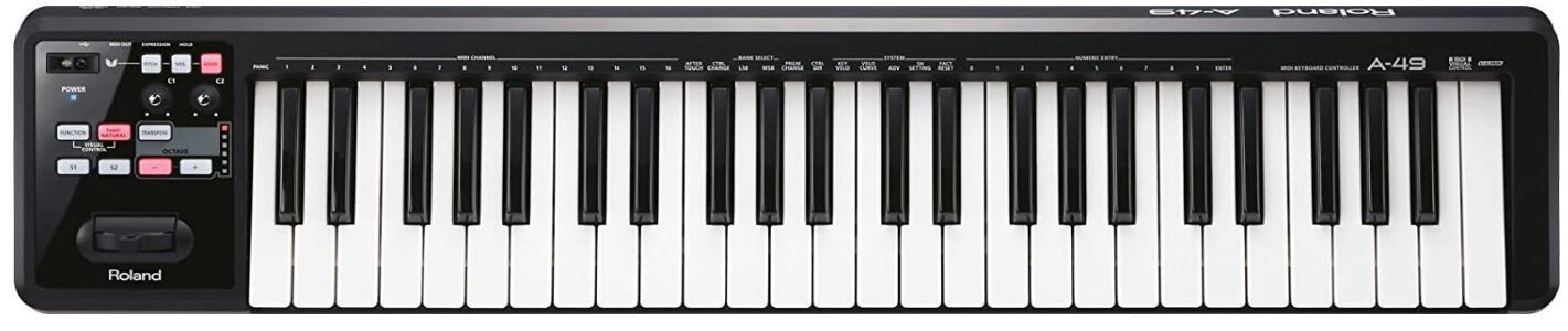 roland midi keyboard under 200