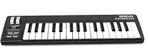cheap midiplus 32 key midi keyboard with mid-size keys review