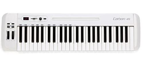 49 key midi keyboard with semi-weighted keys under 100